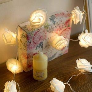 Other - NEW!! 🕯 WHITE AESTHETIC ROSE STRING LIGHTS